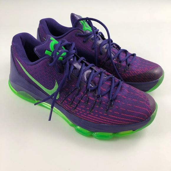 Nike KD 8 Suit Purple Green Basketball Shoes 10.5.  M 5b568b05534ef9a2fb57b937 fb9ca617e